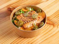 Bowl de salmón y brócoli