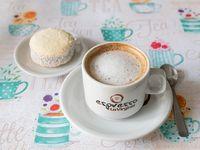 Café + alfajor de maizena