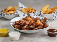 Combo 3 - 21 wings o bonelees + 3 acompañantes+ 2 aderezos + 3 salsas + 3 sodas