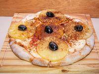 Pizza con ananá