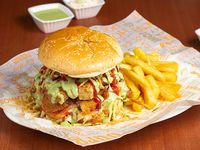 Hamburguesa de pollo crispy