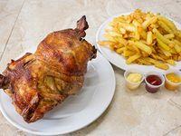 Promoción - Pollo entero + Bandeja de papas fritas grande