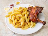 Promoción - 1/4 Pollo + Papas fritas + Bebida en lata 330 ml