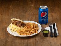 Combo - Arepa Pelùa + papas fritas + Pepsi de 500 ml