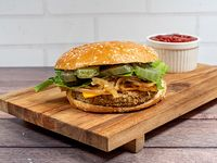 Cheese veggie burger