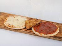 Promo - pizzeta común + pizzeta con muzzarella + faina