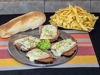 Promo 24 - 4 milanesitas napolitana con fritas + pan