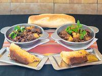 Promo 22 - Mondongo, lentejas o ternerita española para 2 o 3 + flan + pan