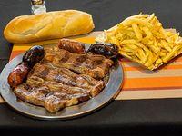 Promo 12 - Asado para dos + 2 chorizos + 2 morcillas + guarnición + pan