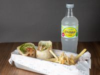 Combo - Wrap + papas fritas + Aquarius 600 ml