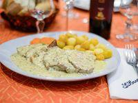 Lomos de Cerdo Dijon con papas noisette