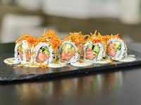 Pink ceviche roll