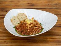 Spaguettis Bolognesa