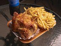 Combo - Pollo entero + papas fritas familiar + bebida 1.5 L