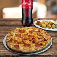 """Pizza 12"""" + Cubos Mozzarella + Coca Cola 1.5L"""