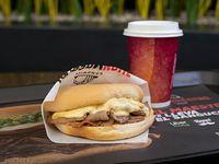 Sándwich barros luco + café