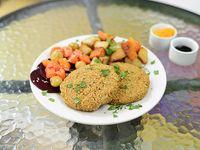 Hamburguesas veganas de quinoa y espinaca