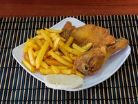¼ Pollo + Francesa + Arepa