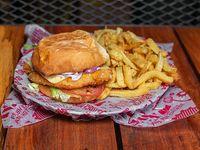 Hamburguesa clásica de pollo