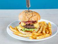 Yellow burger con acompañamiento