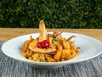 Paella marinera (solo mariscos)