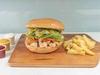 Sándwich de ave chacarero + acompañamiento