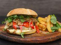Rockwall burger con papas