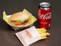 Combo burger - Burger + papas fritas individuales + bebida 350 ml