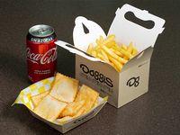 Maxipromo - papas fritas familiar + 6 empanadas +  bebida