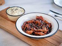 Wok de pollo agridulce con arroz basmati