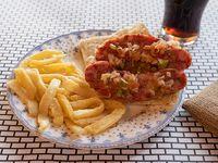 Promo - Chorizo + papas fritas + gaseosa Pepsi 180 ml