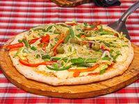 Pizza vegetales al wok