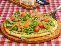 Pizza salmone affumicato