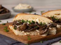 Sándwich con hongos