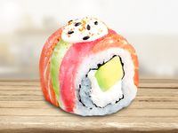 Sushi Arco Iris Roll (Medio)