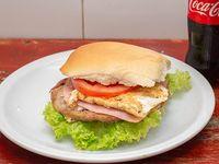 Promo - Hamburguesa powe + Coca-Cola 375 ml