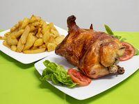 Promo - Pollo a la brasa + papas fritas + cremas
