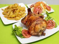 Promo - Pollo a la brasa + papas fritas + ensalada + cremas