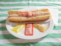 Pancho con jamón y queso