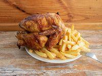 Promoción - Pollo entero + Papas fritas 600 g