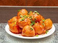 108 - Camarones doraditos con salsa agridulce