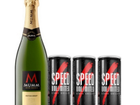 Champagne Mumm extra brut 750 ml + 3 energizantes Speed 250 ml