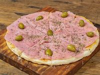 Pizza roquefort con jamón (8 porciones)