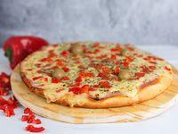 Pizza Grande Jamón y Morrón