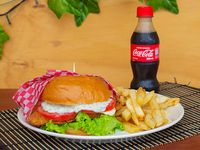 Combo Hamburguesa de Filete de Tilapia Apanado