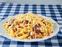 Chorizo con papas fritas