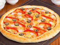 Pizza española  familiares (38 cm)