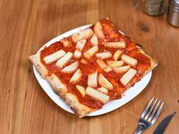 Porción de pizza común con 1 gusto