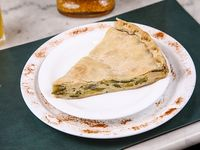 Tarta de zapallitos y queso porción sin sal agregado