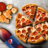 Promo Pizza Mediana + Hut Poppers + Gaseosa